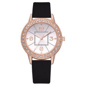 Ремешок из натуральной кожи Quartz движение женщин высокого качества смотреть подарок Wristwatch