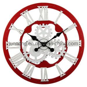 Grande Roda da engrenagem de MDF decorativas Quartz relógio de parede Analógico