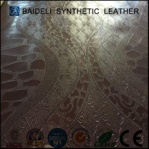 Тисненые ПВХ синтетическая кожа для диван и мебели
