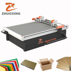 Caixa digital CNC máquina de corte fazendo a máquina para a placa de cinza de papelão ondulado, Carton, amostra de papelão Plotter de corte corte Estrado com marcação CE