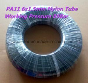 Tubo flessibile/tubo/tubo di plastica del nylon PA11 6X1.5mm W.P. 89bar