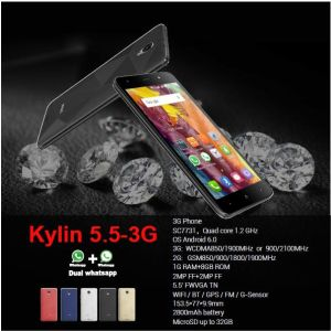5.53G barato Smart Phone, quad core, o Android 6.0 SO, 8g+1g,+2.02.0MP MP, 2800mAh, Ipro Kylin 5.5