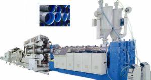 El Plástico PP. PE. PVC Diámetro Double-Wall enorme máquina de extrusión de tubo corrugado