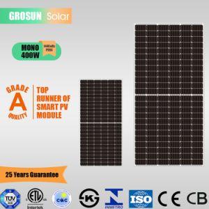 La moitié de la cellule de 144 cellules monocristallines Grosun Panneau solaire 400W (5BB) avec TUV, CE, l'ISO, CQC