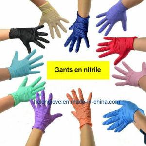 Poudre bleue jetable&caoutchouc sans latex de gants en nitrile nettoyage vinyle S M L