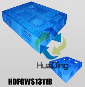 L1300*W1100*H150mm Hepe/PPのプラスチックパレット; 額縁の底; 開いたデッキ