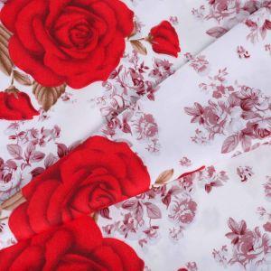 Nuevo diseño de ropa de cama de poliéster de flores de tela Hoja de textiles para el hogar