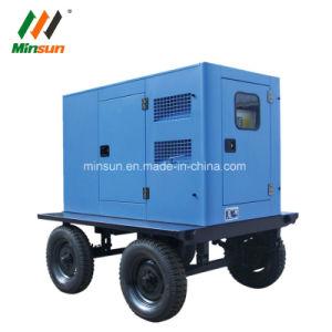 거치된 Generador 이동할 수 있는 Genset 트레일러 발전기