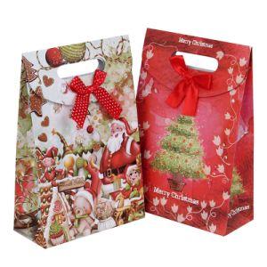UV 호화스러운 크리스마스 디자인 선물 종이 봉지 인쇄