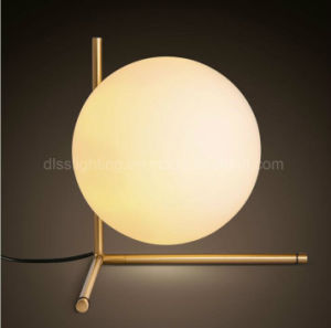 Form-kreative moderne energiesparende Studien-Beleuchtung-Glastisch-Lampe