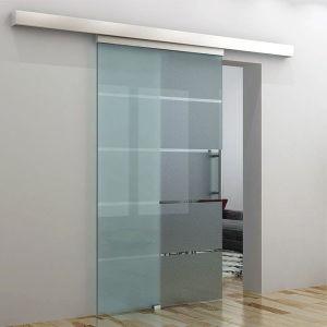 Portello scorrevole di vetro glassato per la vostra stanza da bagno
