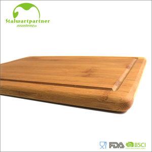 Pies antideslizantes de corte de la tarjeta del surco de bambú natural del goteo