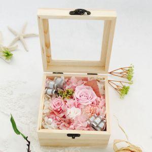 Heet verkoop de Nieuwe Gift van 2017 Unfading Bewaarde Bloem de Doos van de Gift voor Huwelijk toenam