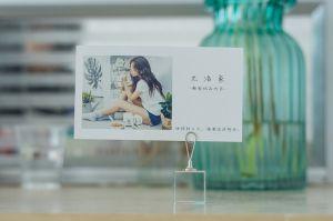 결혼식 호의 Deco를 위한 수정같은 카드 홀더 카드 죔쇠 대 테이블 주 메모 그림 사진 유명한 카드 클립 홀더