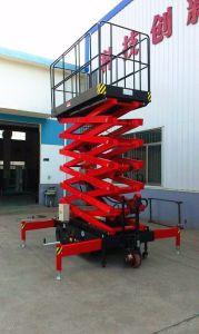 DC/equipo de elevación eléctrica elevador de tijera autopropulsada 6 M