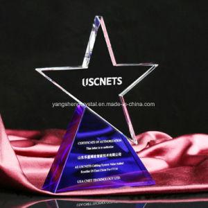 Fashion Design personnalisé trophée de cristal Prix populaire