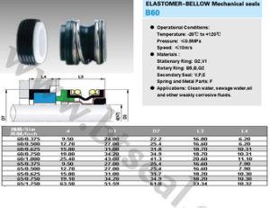 Junta de elastómero sello mecánico (B60) 1