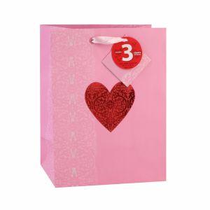 San Valentín Corazón rosa pastel de chocolate bolsas de papel de regalo