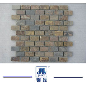 Natürliches Mischfarben Schiefer Mosaik Für Badezimmer Oder Küche Wand