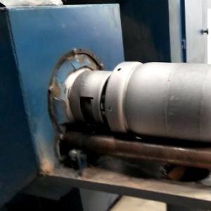 Cilindro de gás GLP Shot disparada a máquina
