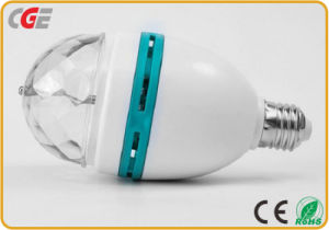 3W/5W lâmpadas LED coloridos rotativa RGB fase a fase da Lâmpada da Luz de discoteca usando E27/B22 da luz de LED