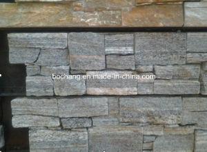 Bulidingの装飾のための灰色の培養された石造りの人工的な石