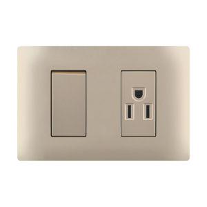 Zoccolo elettrico con modo 1 o 2 il modo degli interruttori