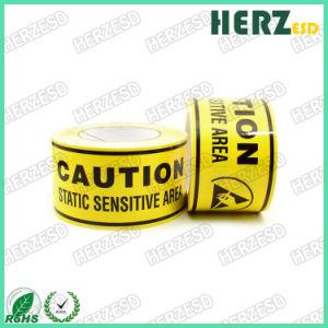 노란 ESD 보호구역 PVC 경고 테이프