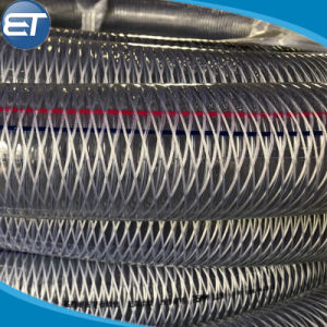De Spiraalvormige Roestvrij staal Versterkte Slang van pvc, Vezel Gevlechte Pijp, Plastic Duidelijk Buizenstelsel