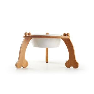 Alimentos para animais de Ware Plus Pé Taça de bambu único cachorro grande taça de cães especiais Placa de bambu barra pendurar Taça Único Set Taça Cão Gato