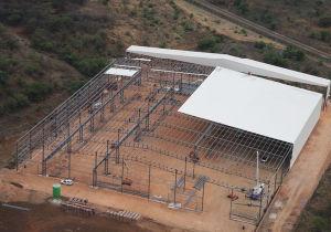 Estructura de acero de la luz de prefabricados de edificio de producción (KXD-SSW1430)