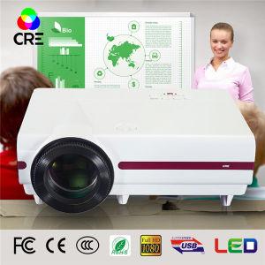 교육 3500 루멘 높은 광도 LED LCD 영사기