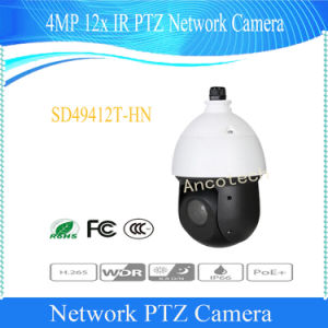 De Camera van het Netwerk van IRL PTZ van de Koepel van de Snelheid van Dahua 4MP 12X (sd49412t-HN)