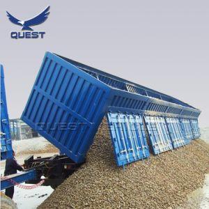 Wellen des Sand-Transport-3 60 Tonnen seitliche Speicherauszug-halb Schlussteil-