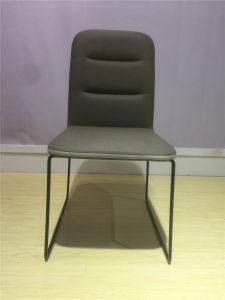 Modernes Metall-2018 PU-lederne Gaststätte-Büro-Möbel, die Stuhl speisen