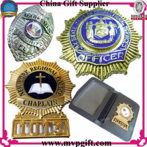 3D de metal de la calidad de esmalte de oro el emblema distintivo de pin de la Policía Militar