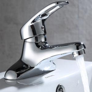 Preço barato o cromo polido numa bacia de banho de Nível Único Toque&Batedeira