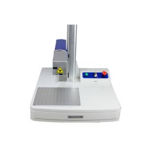 曲げられた表面の丸型3Dのファイバーレーザーのマーキング機械