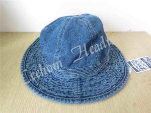 赤ん坊(LB15055)のためのバケツの日曜日の帽子を採取するジーンズ