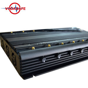 14 antenne Al Telefoon van de Cel van Banden, GPS, WiFi, VHF, UHF, 4G, 315, 433, Lojack Stoorzender /Blocker; Stationair allen in Één Stoorzender van het Signaal met Veilig Geval