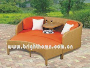 柳細工の藤の倍のソファーの一定の庭の屋外の家具Bl2332