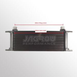 Las piezas de autos de carreras de motor universal del enfriador de aceite de transmisión de la fila 13