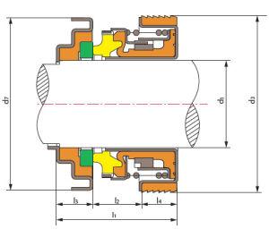 Guarnizione meccanica Tsftk2 per la pompa di raffreddamento automatica