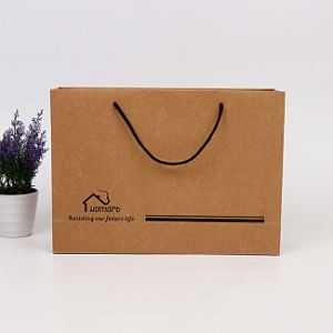 Новый завод прямых торговых коричневый крафт-бумажные мешки