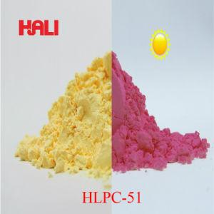 UV color amarillo a rojo en polvo, el activo Tema: Hlpc-51