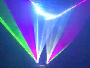 党クリスマスDJ棒のためのRbgの段階のレーザー光線