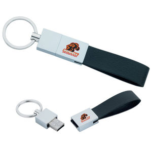 Металлического цилиндра флэш-накопитель USB с логотипом печати