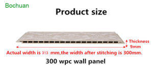 300mm Revêtement mural, WPC Panneau mural, un mur en bois Conseil (A163)