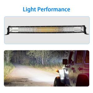 ストロボの点滅の変更カラーのオフロード運転の自動車ライト二重カラーこはく色のクリー族LEDのライトバー