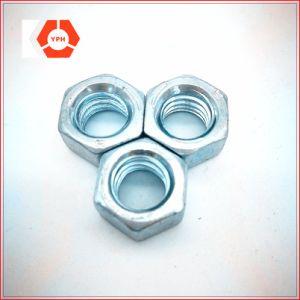 Écrou hexagonal Galvanzied DIN934 avec passivé